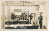 Camp Library interior, Camp Wadsworth