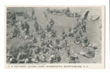 U.S. National Guard, Camp Wadsworth, Spartanburg, S.C.; eating their rations in the company street