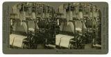 Damask weaving looms, making the richly patterned Irish linens, Belfast, Ireland